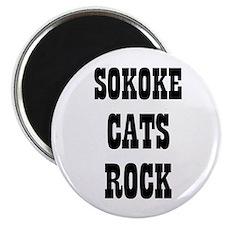 "SOKOKE CATS ROCK 2.25"" Magnet (10 pack)"