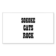 SOKOKE CATS ROCK Rectangle Decal