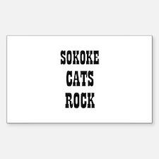 SOKOKE CATS ROCK Rectangle Decal