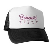Pink M Martini Bridesmaid Trucker Hat