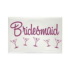 Pink M Martini Bridesmaid Rectangle Magnet