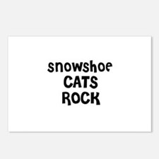 SNOWSHOE CATS ROCK Postcards (Package of 8)