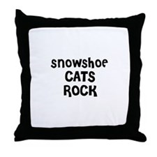 SNOWSHOE CATS ROCK Throw Pillow