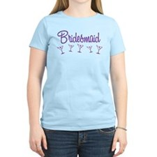 Purple M Martini Bridesmaid T-Shirt