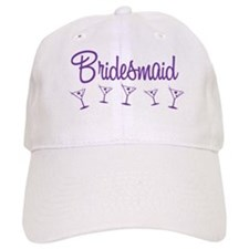 Purple M Martini Bridesmaid Cap