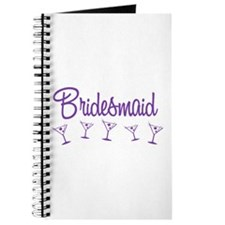 Purple M Martini Bridesmaid Journal