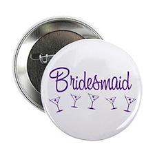 """Purple M Martini Bridesmaid 2.25"""" Button (10 pack)"""