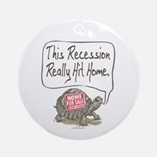 Tortoise Turtle Recession Ornament (Round)