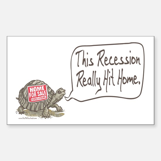 Tortoise Turtle Recession Rectangle Decal