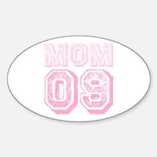 New Mom 2009 Pink Oval Decal