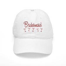 Red M Martini Bridesmaid Baseball Cap