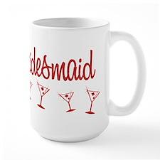 Red M Martini Bridesmaid Mug