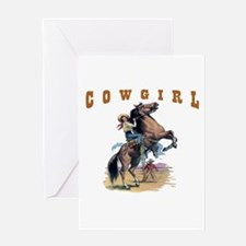 """Cowgirl"" Greeting Card"
