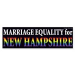 Marriage Equality for New Hampshire bumper sticker