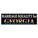 Georgia for Marriage Equality bumper sticker