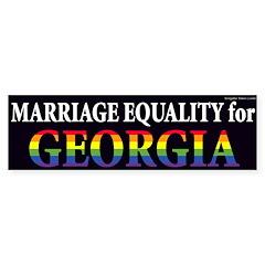 Georgia for Marriage Equality bumper sticker
