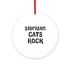 SIBERIAN CATS ROCK Ornament (Round)