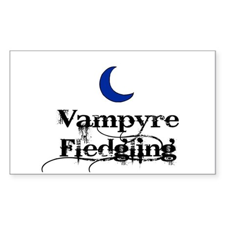 Vampyre Fledgling Rectangle Sticker