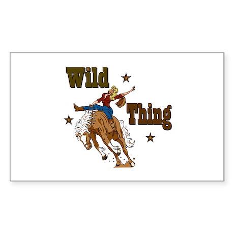 """Wild Thing"" Rectangle Sticker"