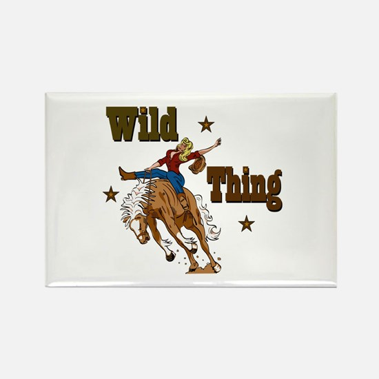 """Wild Thing"" Rectangle Magnet"