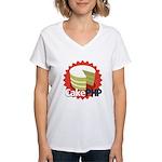 CakePHP 1.2 Women's V-Neck T-Shirt