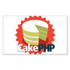 CakePHP 1.2 Rectangle Sticker 10 pk)