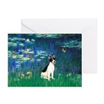 Lilies / Rat Terrier Greeting Cards (Pk of 10)