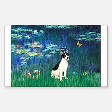 Lilies / Rat Terrier Decal