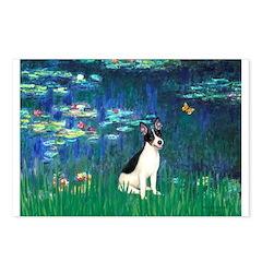 Lilies / Rat Terrier Postcards (Package of 8)