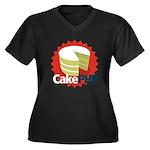 CakePHP 1.2 Women's Plus Size V-Neck Dark T-Shirt