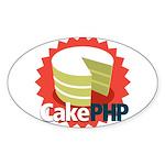 CakePHP 1.2 Oval Sticker (10 pk)