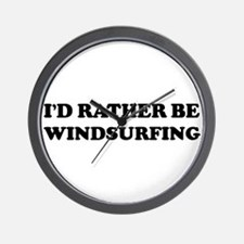 Rather be Windsurfing Wall Clock