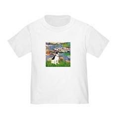 Lilies / Rat Terrier Toddler T-Shirt
