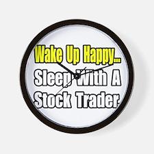 """..Sleep With Stock Trader"" Wall Clock"