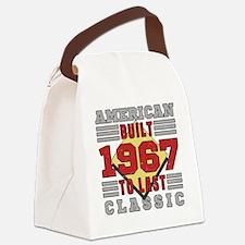 Cute Retro Canvas Lunch Bag