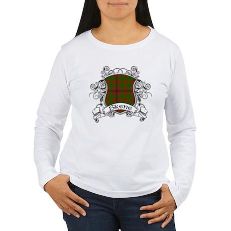 Skene Tartan Shield Women's Long Sleeve T-Shirt