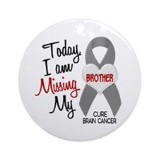 Missing 1 Brother BRAIN CANCER Ornament (Round)