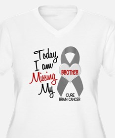 Missing 1 Brother BRAIN CANCER T-Shirt