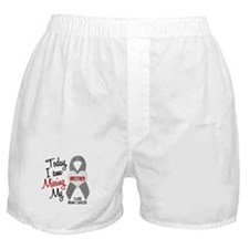 Missing 1 Brother BRAIN CANCER Boxer Shorts