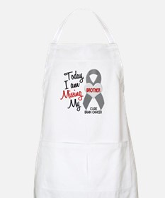 Missing 1 Brother BRAIN CANCER BBQ Apron