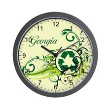Georgia Recycle T-Shirts and Gifts Wall Clock