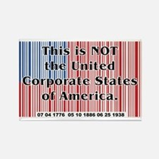 United Corporate States Rectangle Magnet