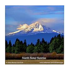 North Sister Tile Coaster