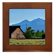 Old Sisters Barn Framed Tile