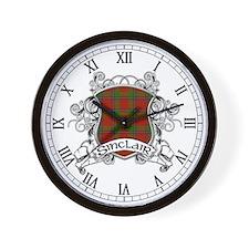 Sinclair Tartan Shield Wall Clock