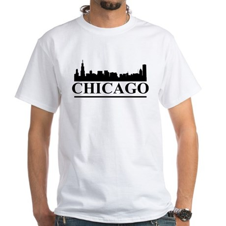 Chicago Skyline White T-Shirt