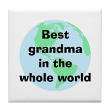 Best Grandma Tile Coaster