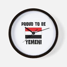 Proud To Be YEMENI Wall Clock
