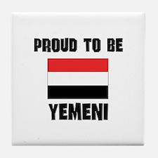 Proud To Be YEMENI Tile Coaster