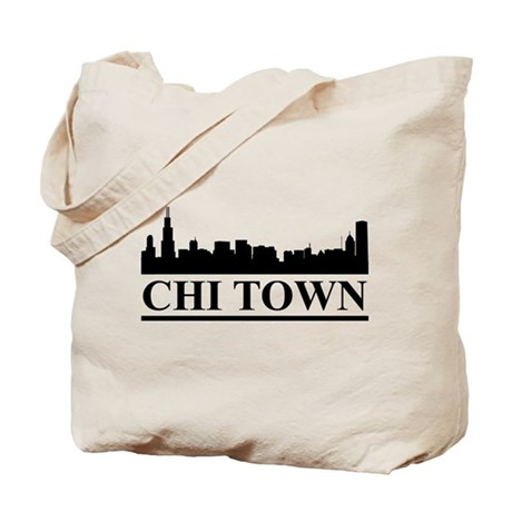 Chicago Skyline Chi Town Tote Bag